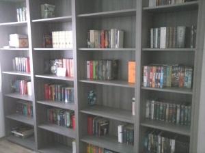 Bücherregal voll